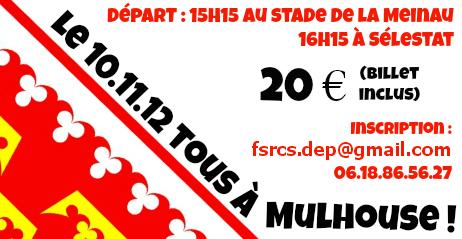 Déplacement à Mulhouse